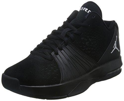 Nike Mens Jordan 5 AM Basketball Shoe Black/White 10.5