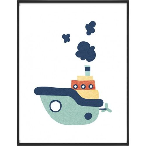 Nursery ship art print, 24