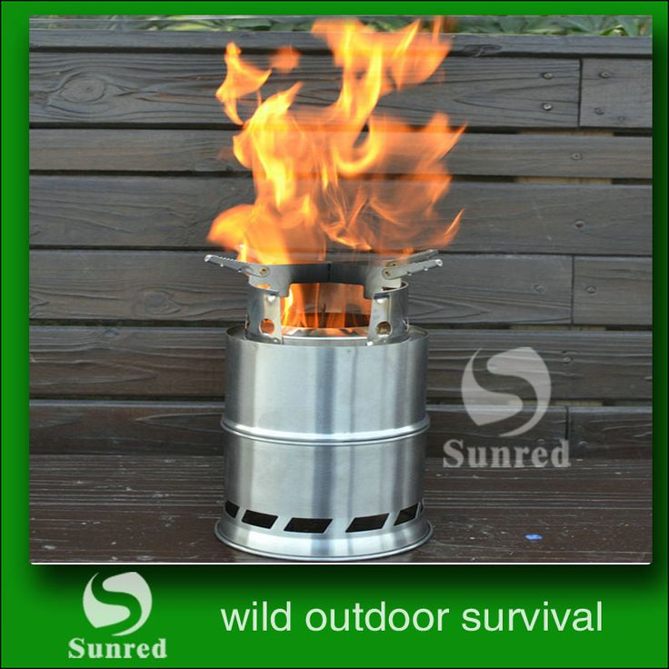 SRDWOS  Portable stainless steel   wood bruing or alcohol  stove  outdoor camping   stove  for backpacking