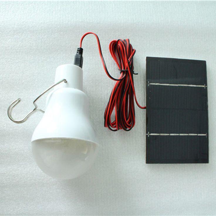 150Lumen Solar Power LED Bulb Lamp & Solar Panel Outdoor Lighting