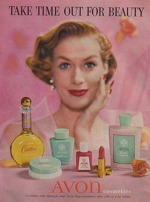 1956 Avon ad. Avon has the best products and you can look amazing for a low cost!  https://www.etsy.com/shop/AvonKatVintage  #avon #vintage