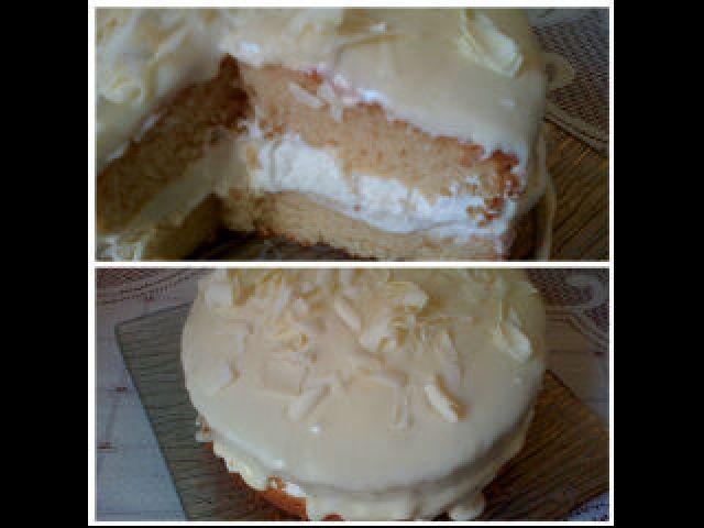 Milkybar ganache cake