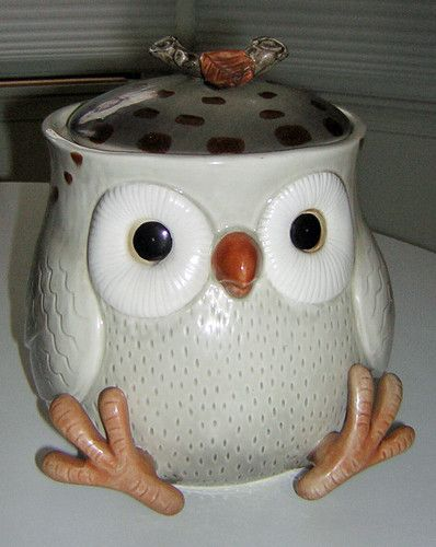 Fitz floyd owl cookie jar