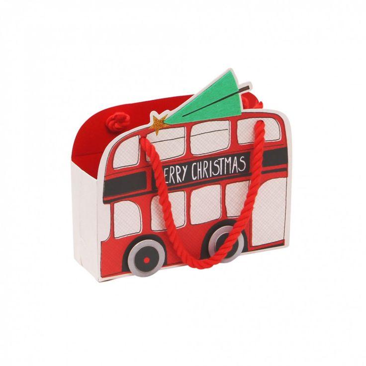 London bus small Christmas gift bag