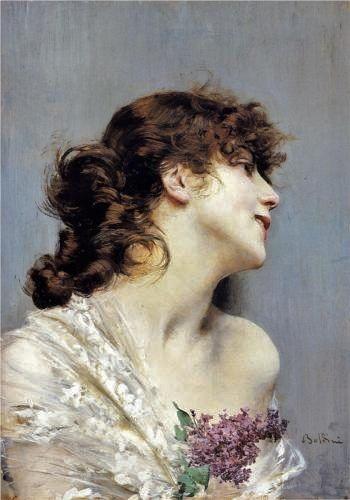 Giovanni Boldini (Italian-French artist, 1842-1931) Young Woman