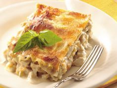 This easy chicken comfort-food casserole is a nice change of pace from traditional lasagna. Four cheeses and 2 cans of condensed cream of chicken soup make it extra creamy and savory. If you don't have time to cook chicken, pick up deli roasted chicken, frozen diced precooked chicken or canned chicken breast chunks instead. Betty members have Pinned this recipe more than 5,000 times! Members have lots of suggestions and tweaks to customize this easy recipe—click through to read their…