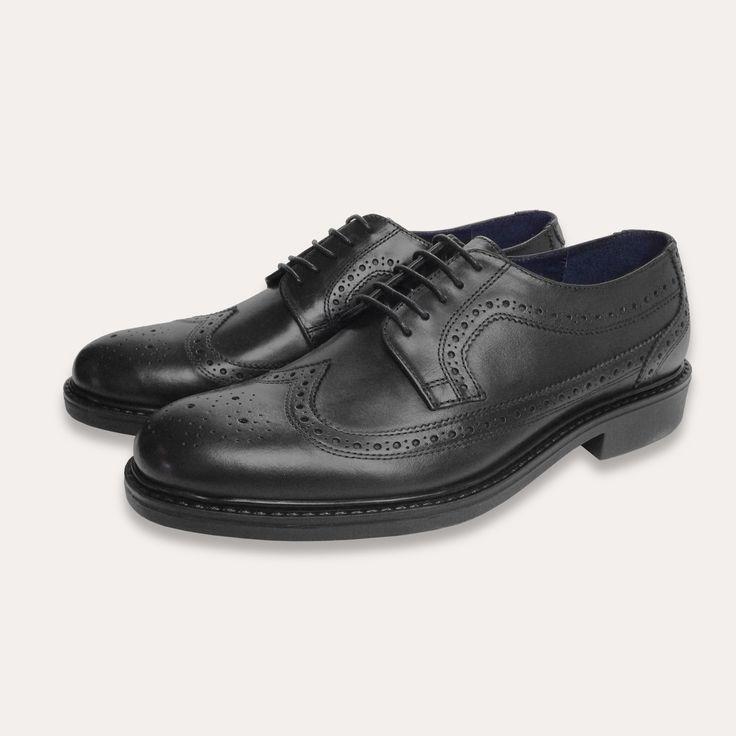 Men's Black Brogues Leather Formal Shoes