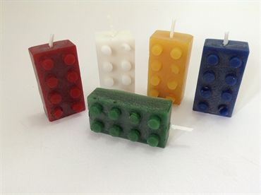 Lego Candles - set of 5