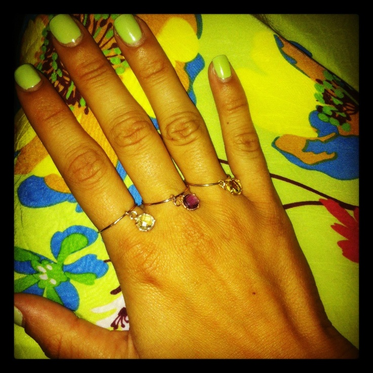 Round silver rings,gold plated with semi precious stones. B-Tal jewellery !!!!