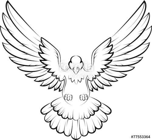 Vector: Dove birds logo for peace concept and wedding design