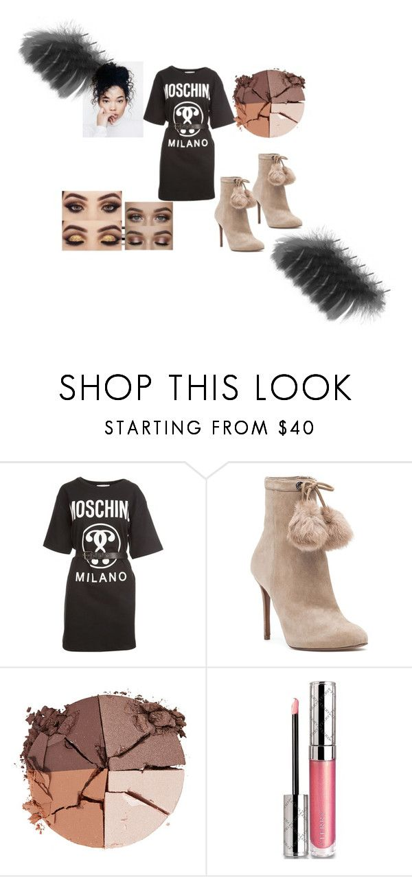"""""""Oversized Tshirts and Pom Pom shoes"""" by natalie-c-daniella ❤ liked on Polyvore featuring Moschino, MICHAEL Michael Kors, lilah b. and By Terry"""
