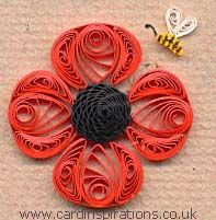 Poppy - center crimped paper then rolled