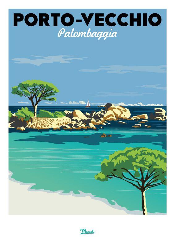 #Affiche #vintage en vente à l'Office de Tourisme de #PortoVecchio …