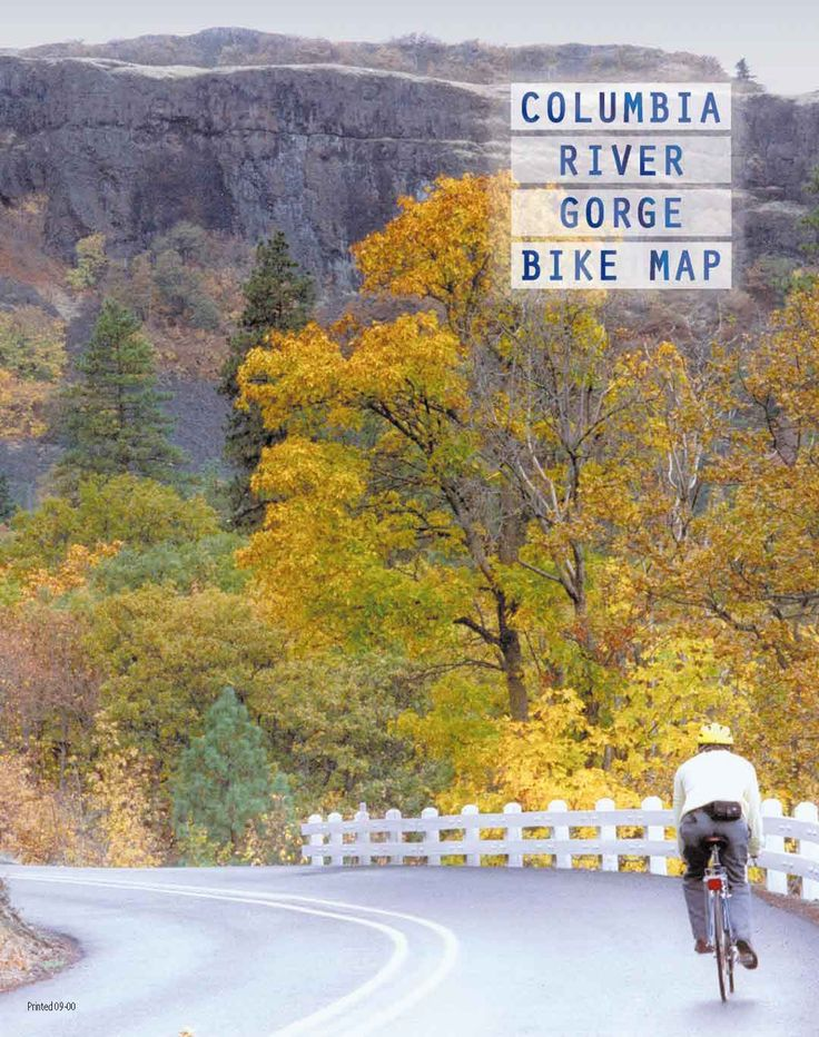Columbia River Gorge bike map, by the Oregon Department of Transportation