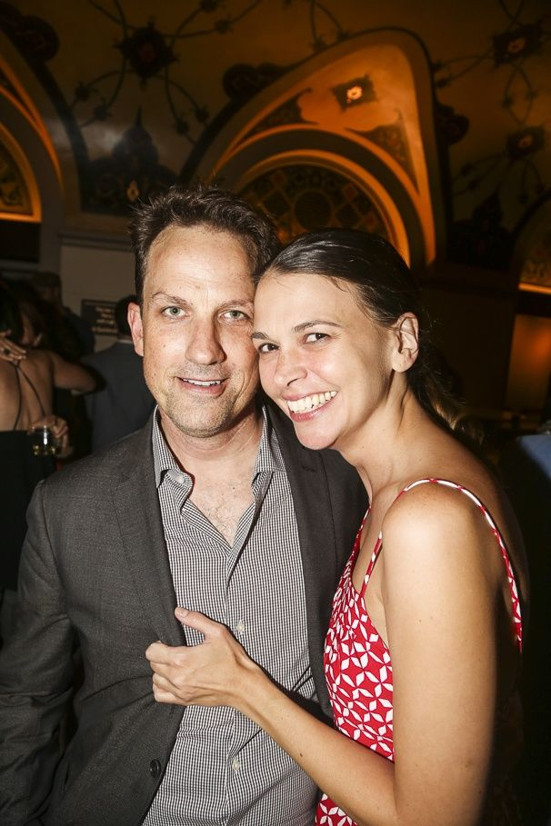 Sutton Foster is thrilled to have her husband Ted Griffin by her side. | Photos! Stay Up All Night with Sutton Foster & the Cast of The Wild Party at Encores! | Broadway.com