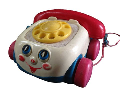 Vintage Fisher Price Brilliant Basics Chatter Telephone – Junkie Charity Store