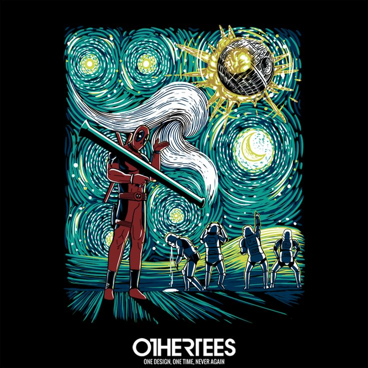 """He did it"" by ddjvigo T-shirts, Tank Tops, V-necks, Sweatshirts and Hoodies are on sale until January 27th at www.OtherTees.com #Deadpool #Marvel #StarWars #OtherTees #WadeWilson"