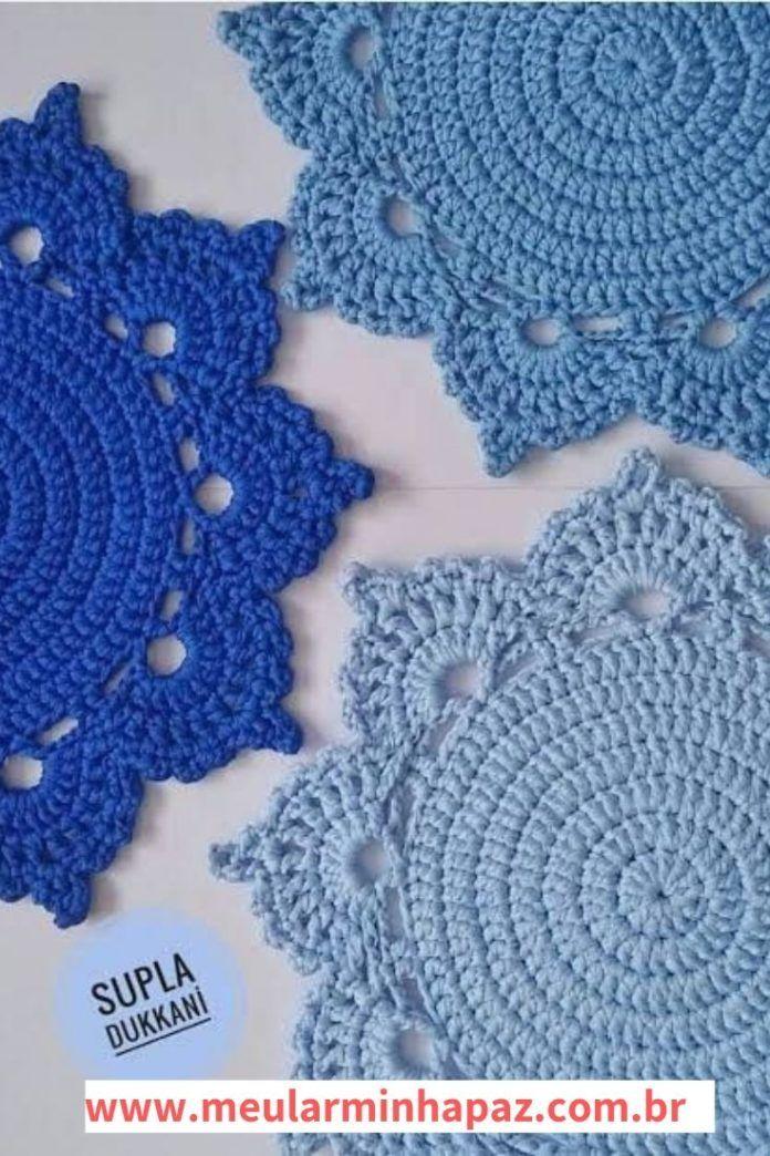 Sousplat De Croche As Melhores Receitas Com Passo A Passo E Graficos Meu Lar Minha Paz Sousplat Croche Sousplat De Croche Grafico Susplat Croche