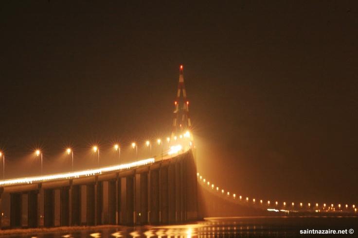 le pont de saint nazaire à six heures du matin,