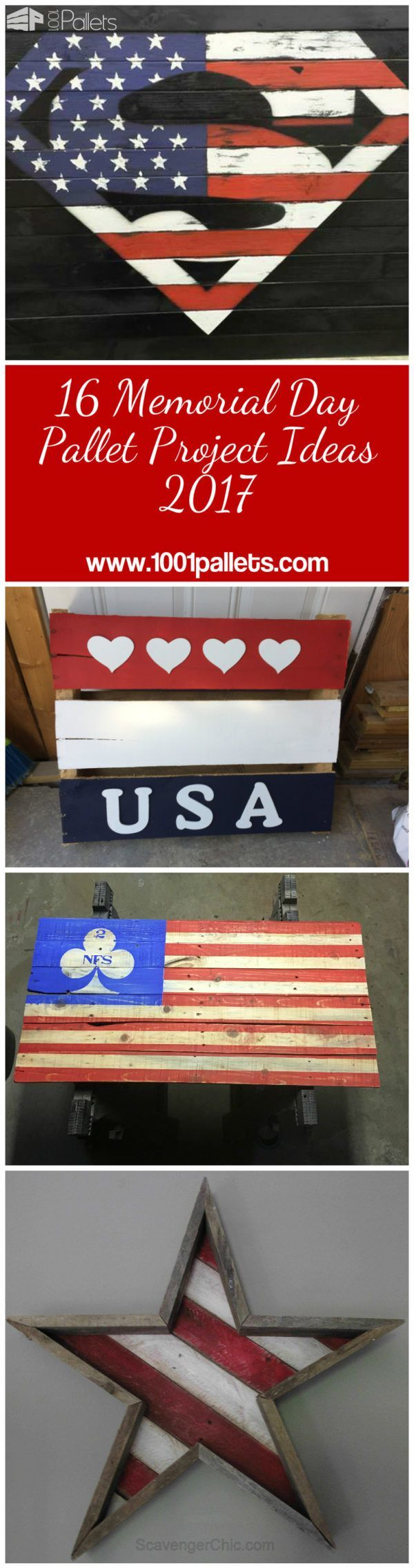 16 Memorial Day Pallet Project Ideas 2017