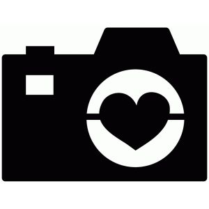 Silhouette Design Store: heart camera