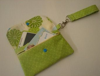 Phone case with zippered pocket for cash or cards