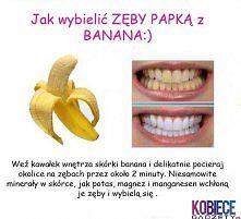 Zobacz zdjęcie Wybielanie zębów, banan.