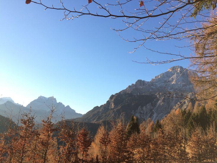 Monte Pelmo e monte Antelao. Valle di Cadore (Dolomiti)