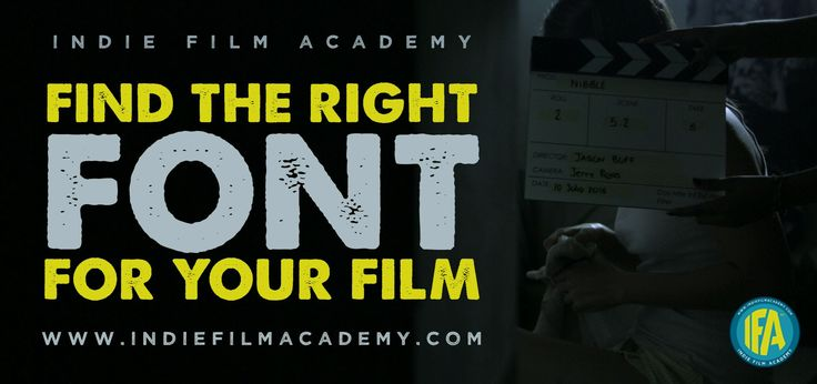 Find the right font for your film title   Free Online Film School