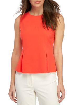 Nine West Tangerine Back Zipper Shell Top