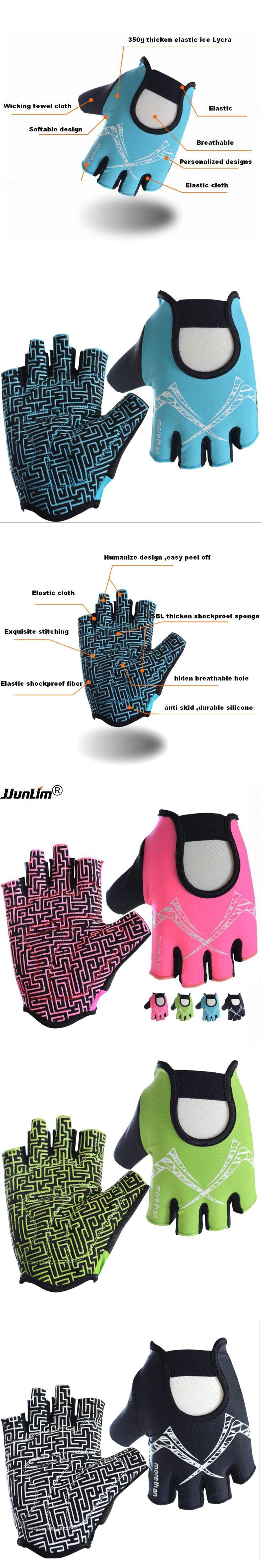 Women Pink Fitness Gloves Half Finger Sport Gym Gloves Power Training Weight Lifting Gloves Dumbbell Crossfit Barbell Gloves Men
