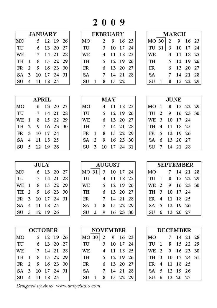 Best Printable Calendars Images On   Printable