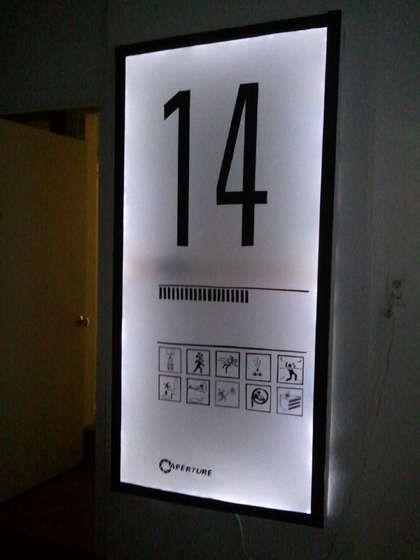 DIY portal test chamber sign