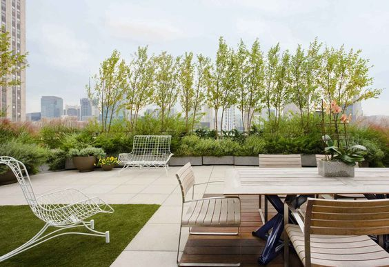 10 Stunning Garden Roof Terraces Award Winning Contemporary Concrete Planters And Sculpture By A Roof Terrace Design Green Roof Garden Rooftop Terrace Design