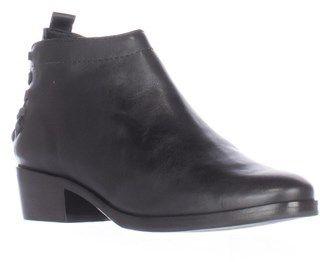 A7EIJE A7eije Saxon Elastic Woven Strap Heel Short Ankle Boots, Black.