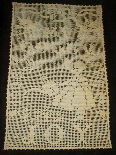 Vintage my dolly filet crochet spread. SOLD