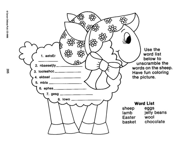 Easter Activity Sheets for Preschool | learningenglish-esl ...