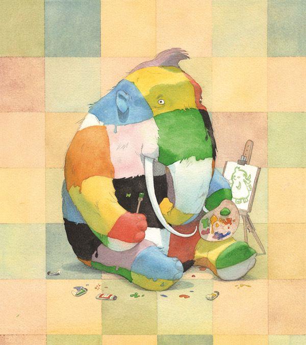 Elefante de colores- quentin Greban