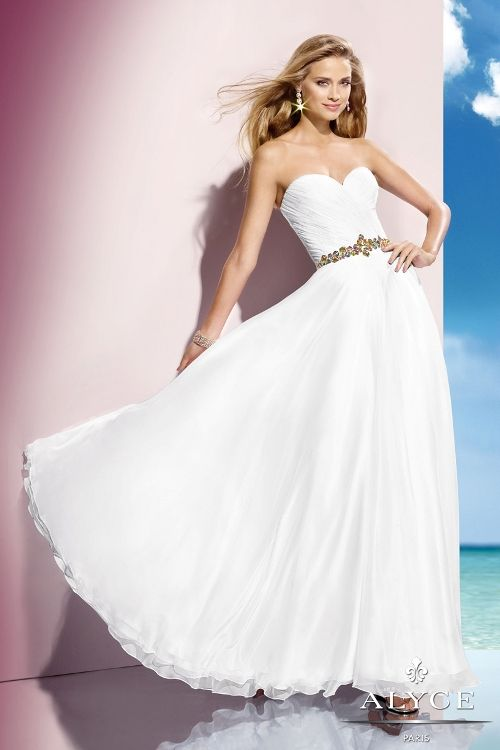 57 best White Formal Dresses images on Pinterest | Party wear ...