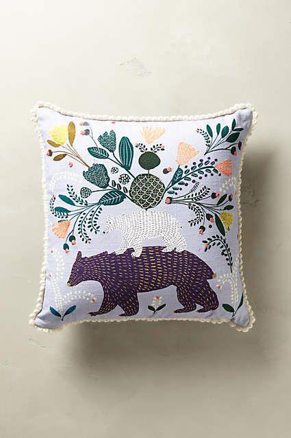 Everglade Embroidered Pillow - anthropologie.eu