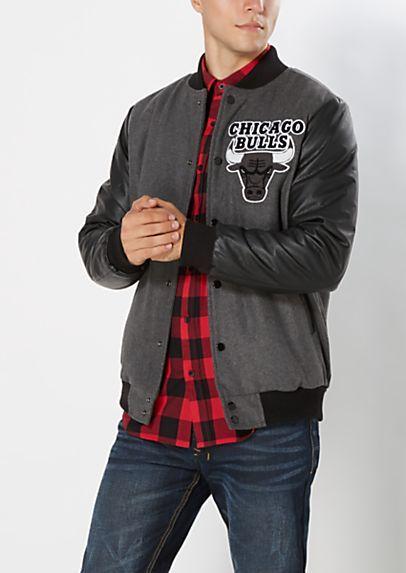 786c1c3178381 Chicago Bulls Varsity Jacket | rue21 | Ballin! The rue21 NBA Collection |  Jackets, Chicago bulls, Chicago