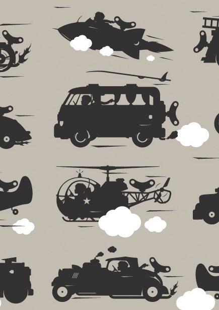 Vliesbehang Toys for Boys jongenskamer taupe  Gek op stoere auto's? Met deze snelle auto's, motors, brandweerauto's, raketten, zorg je echt voor een heleboel pk's, echt superstoer!. Dit vliesbehang van KEK Amsterdam uit de serie Toys for Boys niet alleen geschikt voor de kinderkamer! Dit vliesbehang met snelle voertuigen staat ook geweldig in bijv. de babykamer. Het Toys for Boys behang is makkelijk aan te brengen en geeft een leuk accent aan iedere kamer.