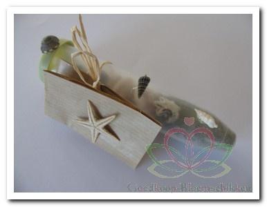 Bruidsboeket en corsage maken: Goedkoop bedankje bruiloft met schelpen en zeesterren thema strand