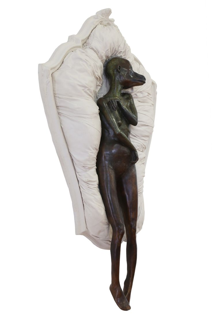 """An original sculpture by Elizabeth Balcomb entitled: """"Name, Race, Gender, Marital Status,"""" bronze, found objects cast into material. #ElizabethBalcomb #Bronze #SouthAfricanArt #SouthAfricanArtist For more please visit www.finearts.co.za"""