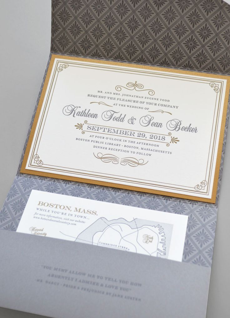 The 29 best Pocket / Folder Wedding Invitations images on Pinterest ...