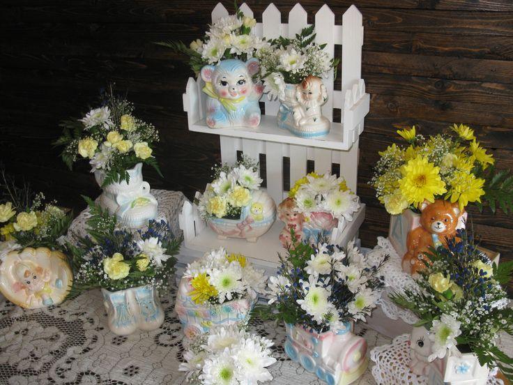 Vintage Flower vases...adorable!