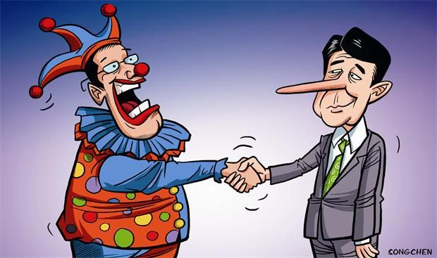 Two 'clowns'. By Song Chen