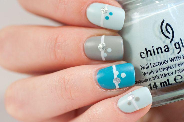 Blue Minimalist Nails