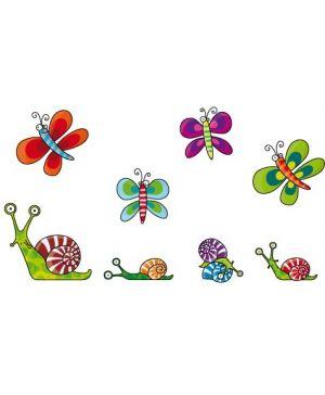 Stickers Escargots et papillons - Les Serie-Golo
