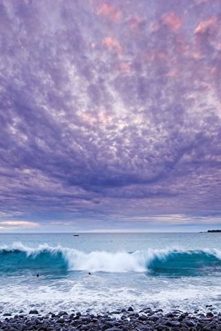 ✯ Purple clouds coming in with the tide